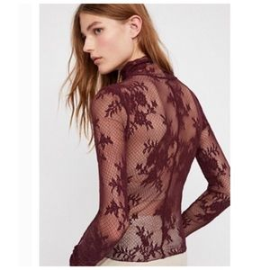 NWOT Free People Sweet Secrets Lace Top